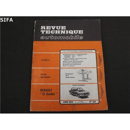 Renault 12 Gordini Revue technique
