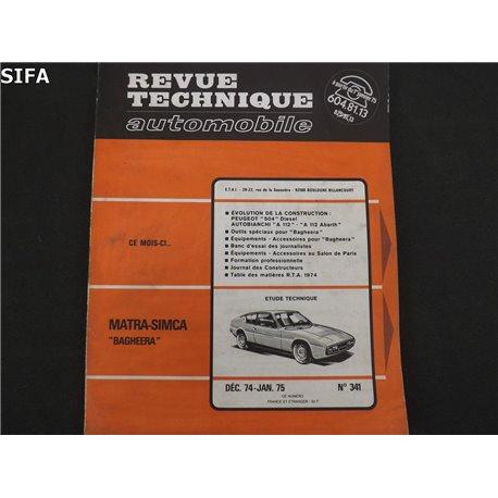 Matra Simca Bagheera Revue technique