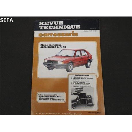 Alfa Roméo 33 Revue technique
