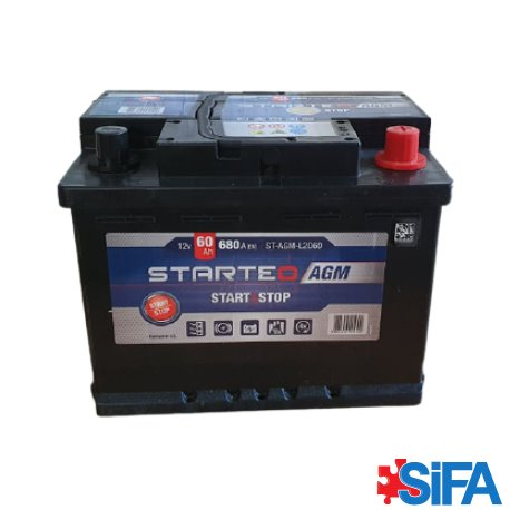 Batterie 12V 60Ah 680A START AND STOP