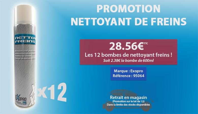 Promotion 12 Nettoyant de freins pour 28,56€